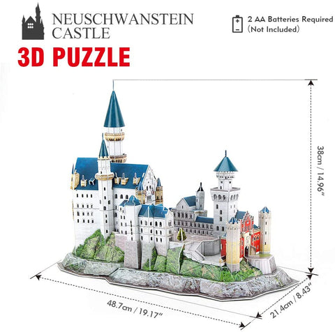 CubicFun 3D Puzzles Russia Cathedral LED Architecture Building-Gift & Accessories-Weekly Top Deal