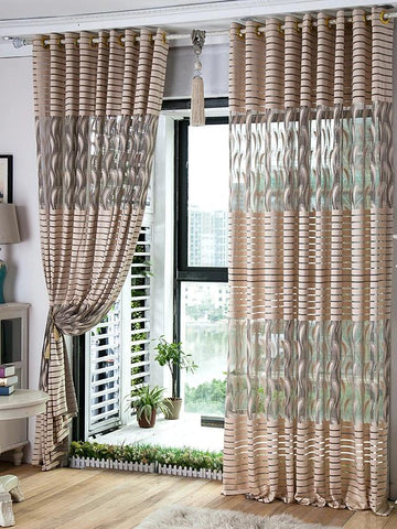 Custom Made Sheer Curtains Shades Two Panels 2*(57W×96-Home Collection-Weekly Top Deal