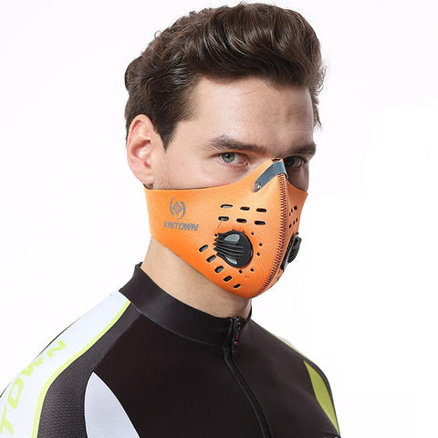 Cycling Mouth Face Shield with Filter Outdoor Ski Dustproof Motorcycle Covers-Outdoor Gear-Weekly Top Deal