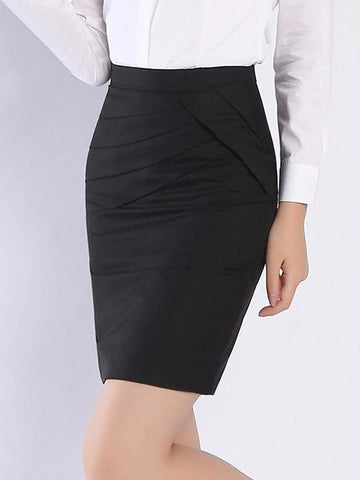 Daily Work Skirts High Slim Waist-Women-Weekly Top Deal
