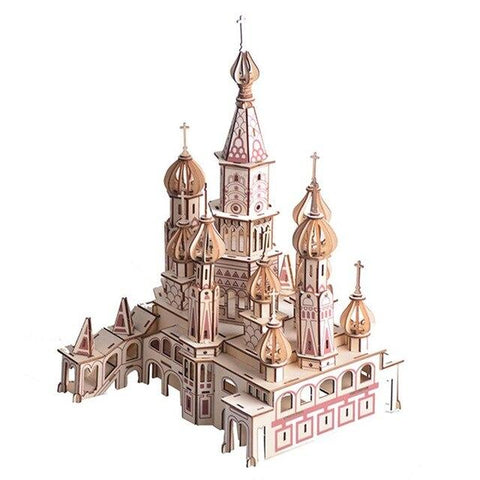 DIY 3D Wooden Saint Basil's Cathedral Model Building Kit-Kids, Toys & Baby-Weekly Top Deal