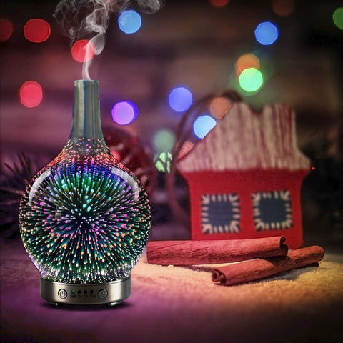 Essential oil diffuser 3D Glass Led Light Starry Sky Aromatherapy Oil Diffuser.-Home Collection-Weekly Top Deal