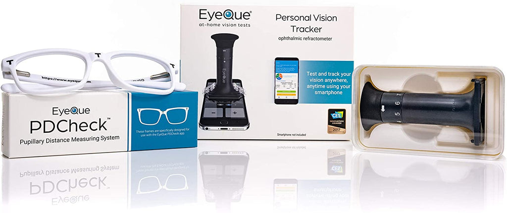 EyeQue Personal Vision Tracker Plus - Smartphone Vision Test & Pupillary Distance Tool-Beauty & Health-Weekly Top Deal