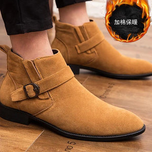 Fashion Boots Suede Casual Boots Height-increasing Booties-Men-Weekly Top Deal