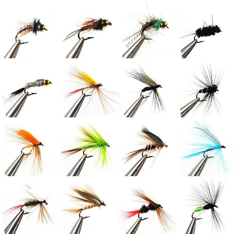 Flies Fishing Lures Flies Worm Feathers Carbon Steel Mixed-Outdoor Gear-Weekly Top Deal