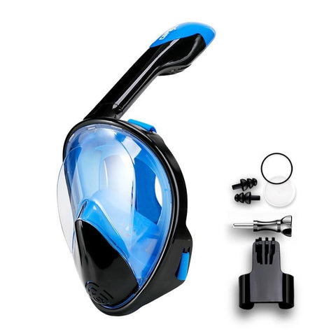 Full Face Scuba Diving Mask Anti Fog Goggles with Camera Mount Underwater Wide View-Outdoor Gear-Weekly Top Deal