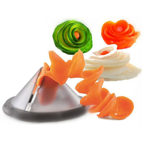 Funnel Model Spiral Slicer Vegetable Shred Salad Carrot Radish Cutter-Home Collection-Weekly Top Deal