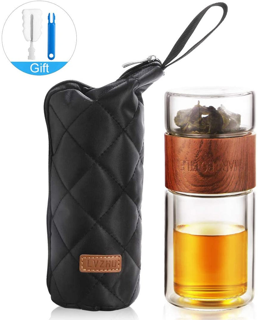 Glass Tea Infuser - 7oz Travel Mug with Strainer-Gift & Accessories-Weekly Top Deal