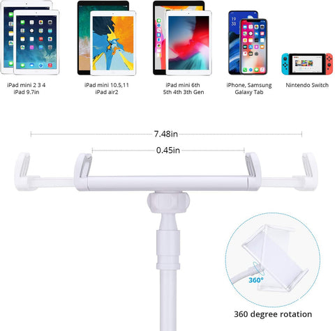 Gooseneck Tablet Stand, Tablet Phone Mount Holder for iPad iPhone-Home Collection-Weekly Top Deal
