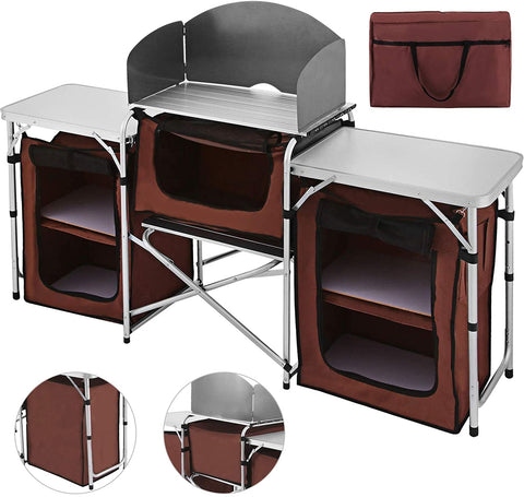 Happybuy Portable Camping Kitchen Table Multifunctional Camping Kitchen Table-Outdoor Gear-Weekly Top Deal