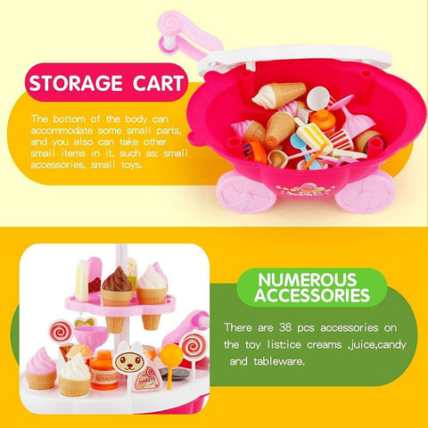 Ice Cream Cart Toy Food-Kids, Toys & Baby-Weekly Top Deal