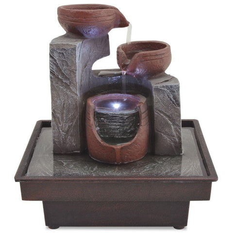 Indoor fountain with LED polyresin-Home Collection-Weekly Top Deal