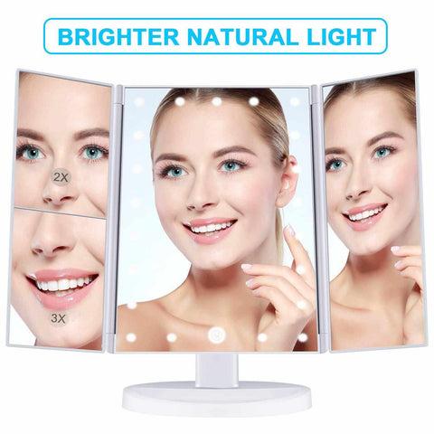 LED LIGHT TOUCH SCREEN MAKEUP MIRROR-Beauty & Health-Weekly Top Deal