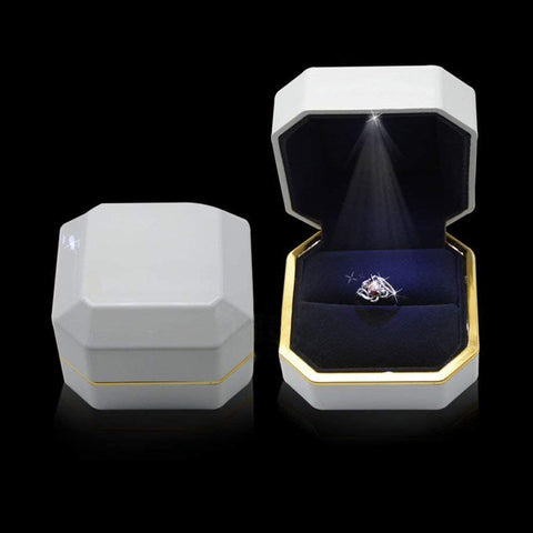 LED Lighted Ring Box Velvet Jewelry Gift Wedding Proposal Engagement-Gift & Accessories-Weekly Top Deal