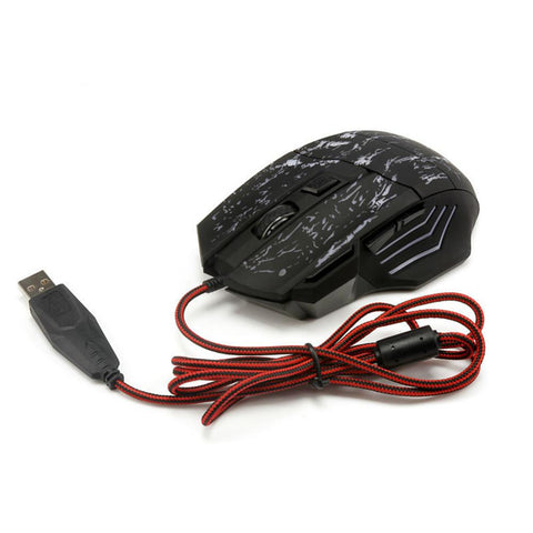 LITBest K1012B Wired USB Gaming Mouse Led Light 3200 dpi 4 Adjustable DPI Levels 6 pcs Keys-Electronic-Weekly Top Deal