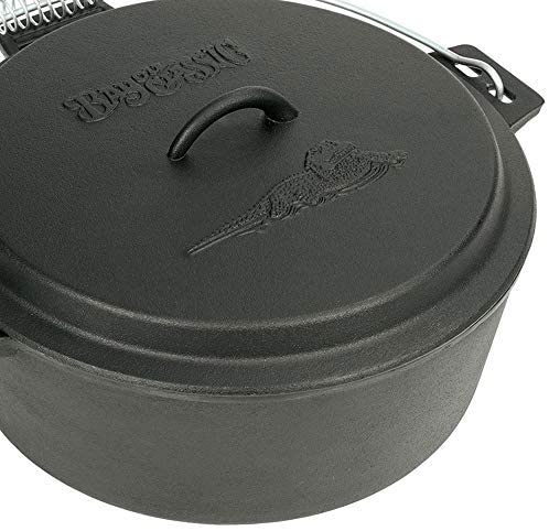 Lodge Deep Camp Dutch Oven - 10 qt-Outdoor Gear-Weekly Top Deal