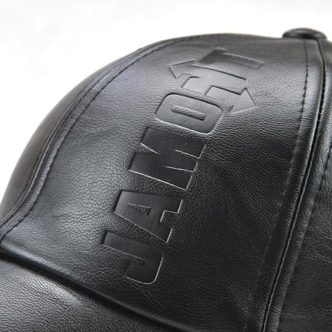 Men PU Leather Autumn/Winter Baseball Cap Embossed Concave Cap-Weekly Top Deal