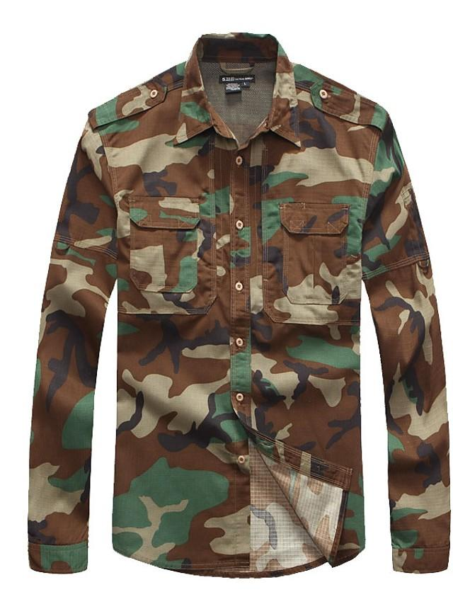 Men's Camo Button-Up Shirts-Outdoor Gear-Weekly Top Deal
