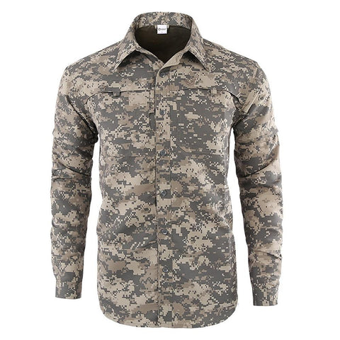 Men's Camo Hiking Shirt-Outdoor Gear-Weekly Top Deal