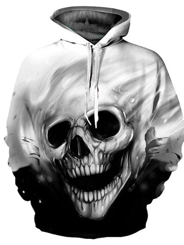 Men's Casual / Basic Hoodie - 3D / Cartoon / Skull-Men-Weekly Top Deal