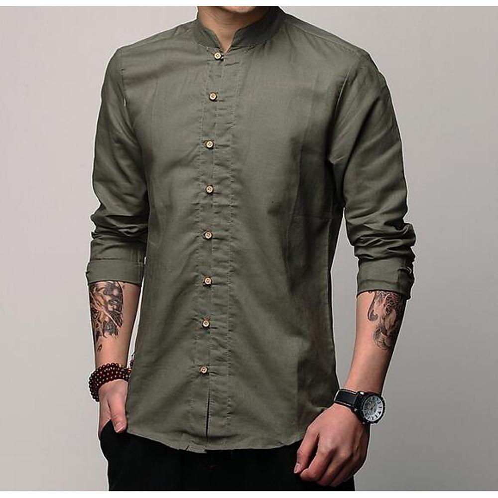 Men's Cotton / Linen Shirt-Men-Weekly Top Deal