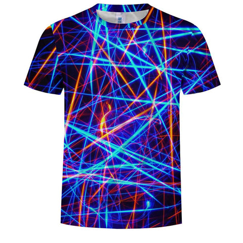 Men's Cotton T-shirt - 3D Print Round Neck / Short Sleeve-Men-Weekly Top Deal