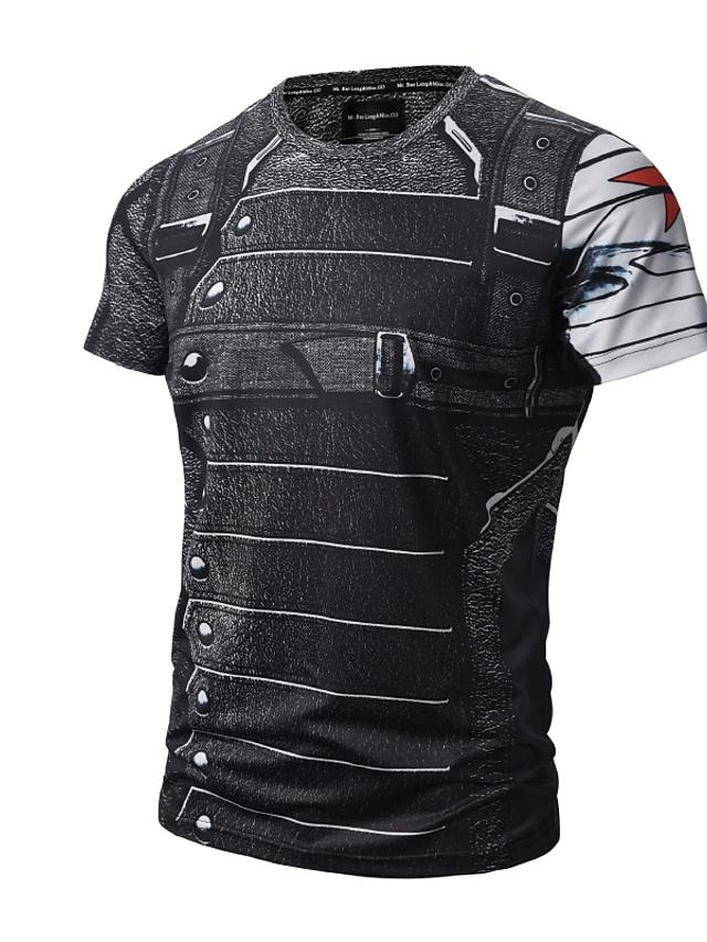 Men's Daily Active / Punk & Gothic T-shirt Print Round Neck Black / Short Sleeve / Summer-Men-Weekly Top Deal