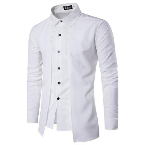 Men's Daily Chinoiserie Cotton Slim Shirt-Men-Weekly Top Deal