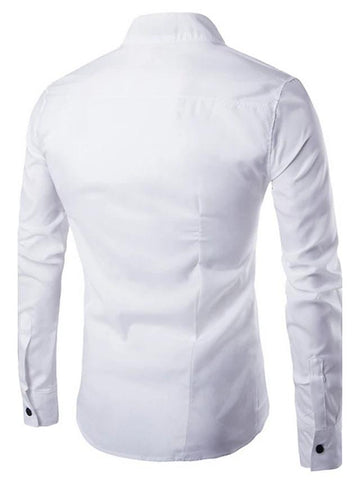 Men's Daily Chinoiserie Slim Shirt-Men-Weekly Top Deal