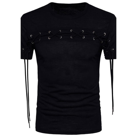 Men's Daily Cotton T-shirt - Solid Colored Round Neck Black / Short Sleeve / Spring / Summer-Weekly Top Deal