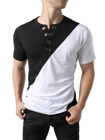 Men's Daily Holiday Street chic / Punk & Gothic T-shirt-Men-Weekly Top Deal