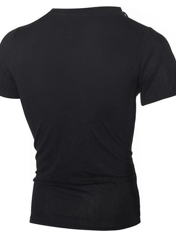 Men's Daily Vintage / Active T-shirt - Solid Colored V Neck Black / Short Sleeve-Men-Weekly Top Deal