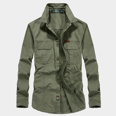 Men's Hiking Button Down Shirts Breathable Multi Pockets-Men-Weekly Top Deal