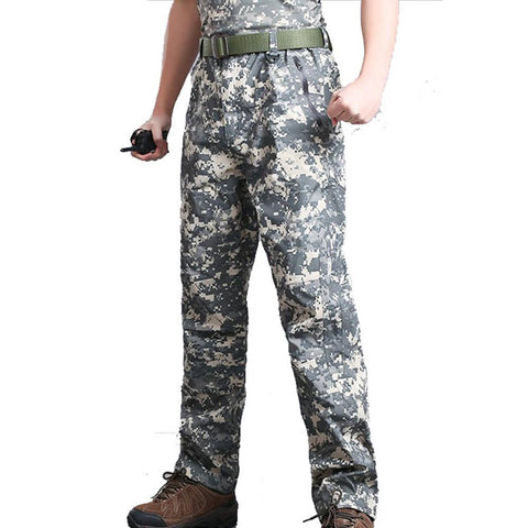 Men's Hiking Pants Camo Outdoor Waterproof Breathable Quick Dry Wear Resistance Cotton Pants-Outdoor Gear-Weekly Top Deal