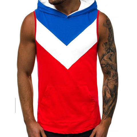 Men's T-shirt - Color Block V Neck-Men-Weekly Top Deal