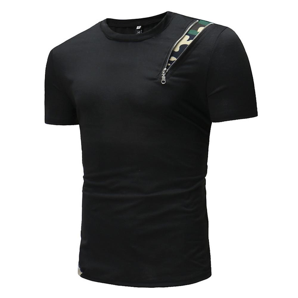 Men's T-shirt - Solid Colored Round Neck-Men-Weekly Top Deal