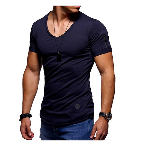 Men's T-shirt - Solid Colored Round Neck White-Men-Weekly Top Deal