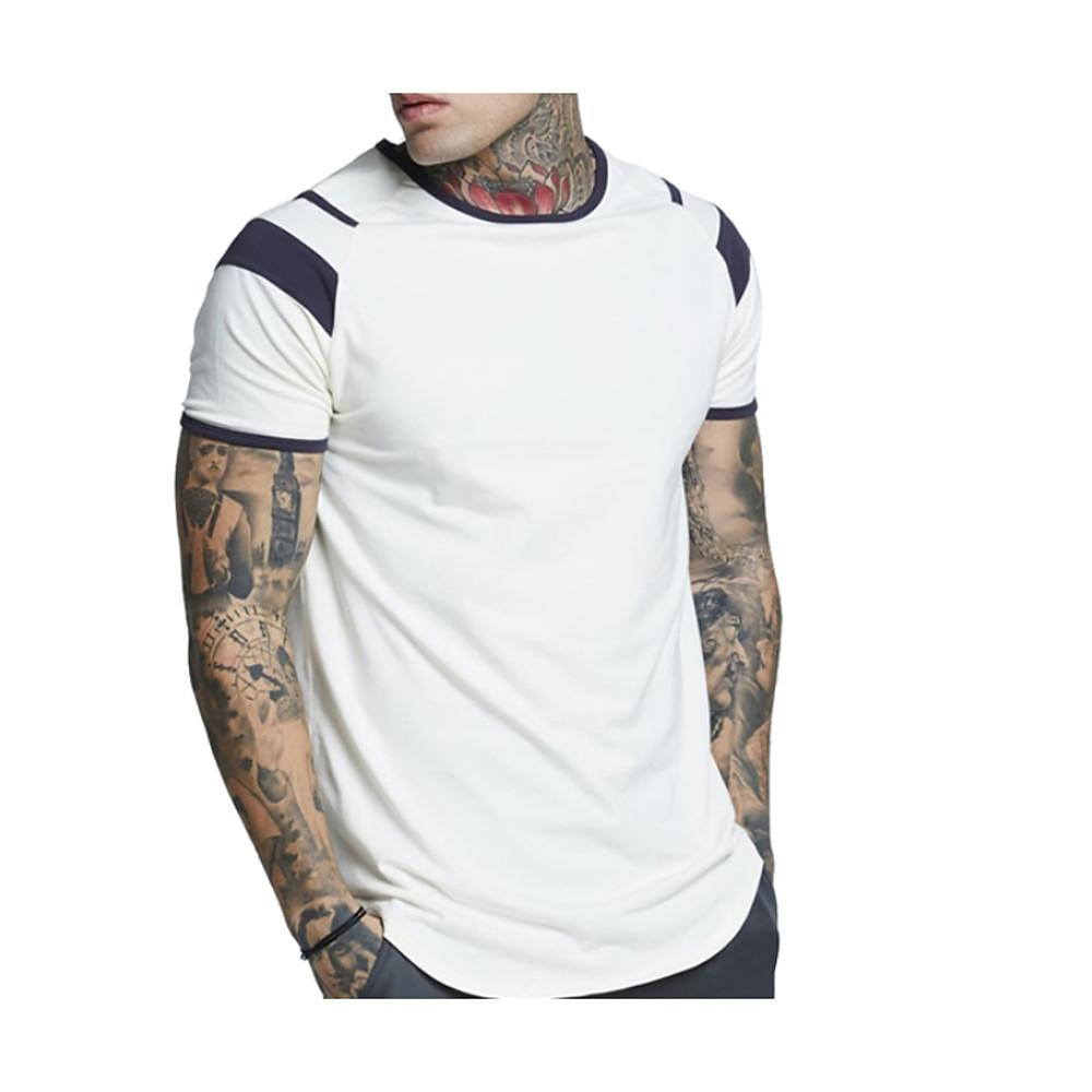 Men'sT-shirt - Solid Colored Round Neck-Men-Weekly Top Deal