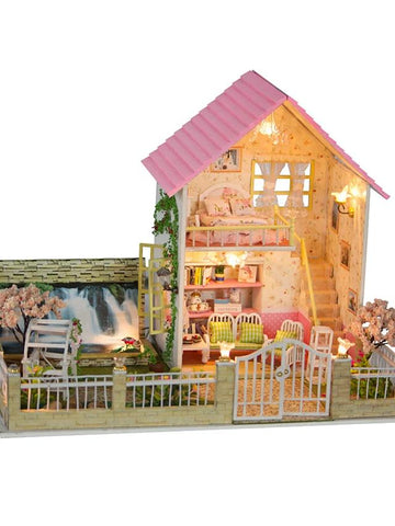 Model Building Kit DIY Furniture House Natural Wooden-Kids, Toys & Baby-Weekly Top Deal