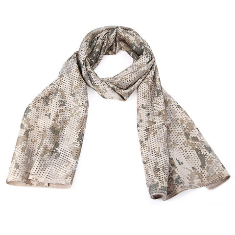 Multifunctional Mesh Neck Scarf Muffler Shawl Camouflage Wrap-Outdoor Gear-Weekly Top Deal
