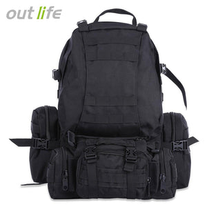 Outlife Outdoor 50L MOLLE Military Camping Hiking Backpack-Outdoor Gear-Weekly Top Deal