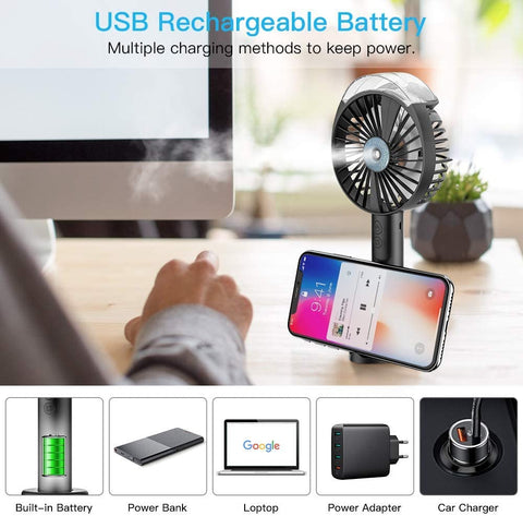 Portable Cooling Handheld Mist Fan-Home Collection-Weekly Top Deal