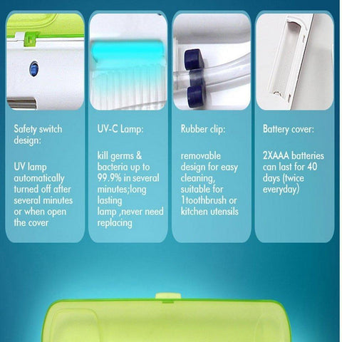 Portable UV Light Toothbrush Sanitizer-Beauty & Health-Weekly Top Deal