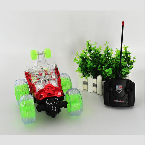 RC Car Light Music RC Stunt Cars 2CH 2.4G Stunt Car 1:32-Kids, Toys & Baby-Weekly Top Deal