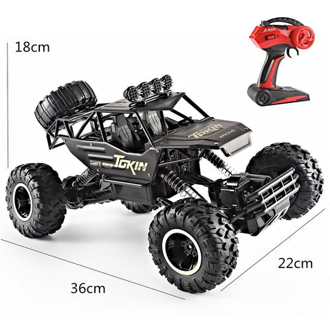 RC Car Titanfoot Monster Truck Rock Crawlers 4WD 4 Channel 2.4G Buggy (Off-road) / Rock Climbing Car / Drift Car 1:12 Brushless Electric 12 km/h Waterproof / Flashlight / Shockproof-Kids, Toys & Baby-Weekly Top Deal