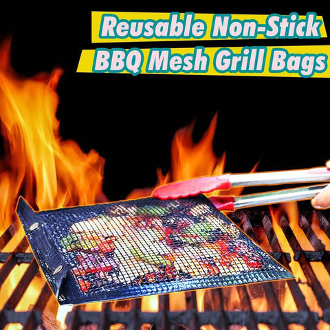 Reusable Non-Stick BBQ Mesh Grill Bags-Home Collection-Weekly Top Deal