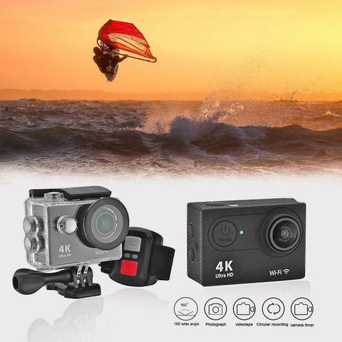 RISE-H9R Wifi Camera 1080P Ultra 4K Sport Action Waterproof Travel Camcorder-Outdoor Gear-Weekly Top Deal