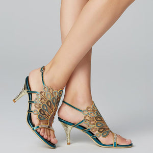 Sandals Stiletto Heel / Crystal Heel Rhinestone Synthetic Ankle Strap-Women-Weekly Top Deal