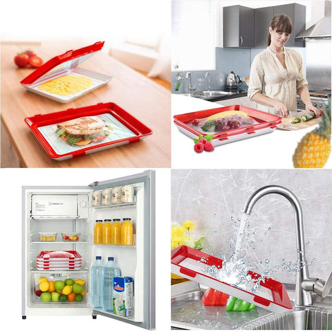 Sealed Food Preservation Tray (Pack 4Pcs)-Home Collection-Weekly Top Deal