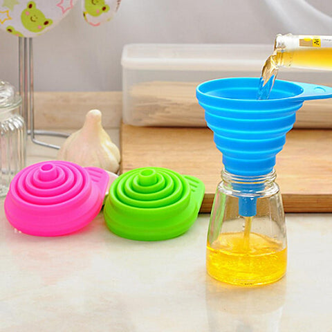 Silicone Foldable Funnel Cute Collapsible Style-Home Collection-Weekly Top Deal